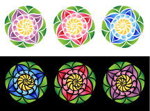 Buntglas-Blumen Stockfotografie