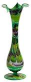 Buntglas-Blumen-Vase Stockfotografie