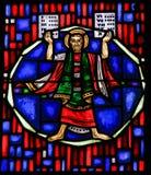 Buntglas in den Würmern - Moses und die zehn Gebote Lizenzfreie Stockbilder