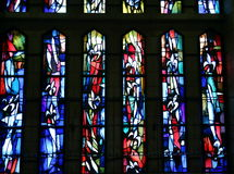 Buntglas der Kirche der Ankündigung Lizenzfreie Stockfotografie