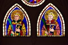 Buntglas durch Giotto - Heilig-Diakon-Märtyrer stockfoto