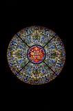Buntglas in einer Kathedrale Lizenzfreie Stockfotos
