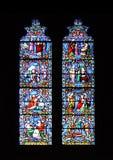 Buntglas-Fenster Stockfoto