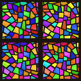 Buntglas-Fenster 6 stock abbildung