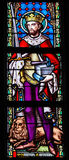 Buntglas - Heiliges Adrian oder Adrianus Lizenzfreies Stockfoto