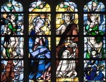 Buntglas - Jesus Christ und Mutter Mary lizenzfreie stockfotografie