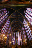 Buntglas-Kathedrale. Stockbilder