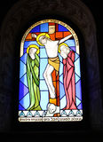 Buntglas-Kirche-Fenster Stockfoto