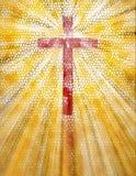 Buntglas-Kreuz Stockbilder