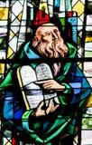 Buntglas - Moses und die Steintablets Lizenzfreies Stockbild