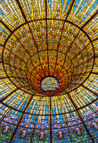 Buntglas-Oberlicht Stockbilder