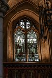 Buntglas in Southwark-Kathedrale, London stockfoto