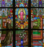 Buntglas - St Anthony von Padua Lizenzfreie Stockbilder