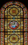 Buntglasfenster (Bretagne, Frankreich) Lizenzfreies Stockfoto
