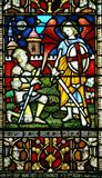 Buntglasfenster, Christchurch, Neuseeland Lizenzfreies Stockbild