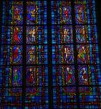 Buntglasfenster in den Ausflügen Lizenzfreies Stockbild