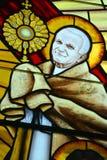 Buntglasfenster der Stadtkathedrale unserer Dame des heiligen Rosenbeetes Lizenzfreie Stockfotos