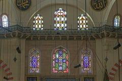 Buntglasfenster in der Suleymaniye-Moschee, Istanbul stockbilder