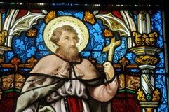 Buntglasfenster der Vigny Kirche lizenzfreies stockbild