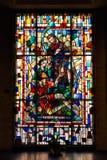 Buntglasfenster in Heilig-Antony Kapelle Lizenzfreies Stockbild