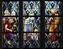 Buntglasfenster in Heilig-Antony Kapelle Lizenzfreie Stockfotos