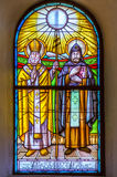 Buntglasfenster St. Cyril und Methodius Stockfoto