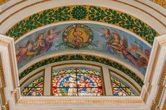 Buntglasfenster in Stella Maris lizenzfreies stockbild