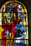 Buntglasfenster von Heilig-Gatien-Kathedrale in Blois. Lizenzfreie Stockbilder