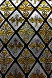 Buntglasfensterdetail stockbild
