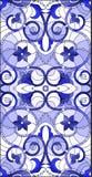 Buntglasillustration mit abstrakten Strudeln, Blumen und Blättern auf einem hellen Hintergrund, vertikales Orientierungsgamma vektor abbildung