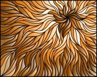 Buntglasillustration Zusammenfassungshintergrund, Monochrom, tonen braunes, horizontales Bild Lizenzfreies Stockbild