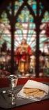 Buntglaskommunion Stockfotografie