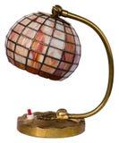 Buntglaslampe getrennt Stockfoto