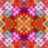 Buntglasvektorhintergrund Schönes nahtloses Muster Lizenzfreie Stockfotos