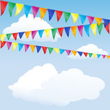 Bunting. Strings of bunting against sky. Space for your text Stock Photos