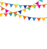 Bunting And Garland Set. Stock Images