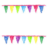 Bunting background. Engraving pennants. Royalty Free Stock Image