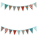 Bunting background in flat style. Vector illustration of Bunting background in flat style Royalty Free Stock Image