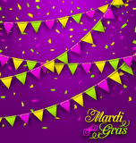Bunting Background for Mardi Gras Royalty Free Stock Images