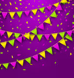 Bunting Background for Mardi Gras Royalty Free Stock Photography