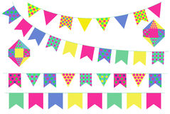 Bunting banners Stock Images