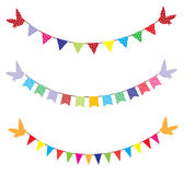 Bunting With Birds Royalty Free Stock Images