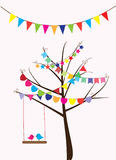 Bunting And Birds Royalty Free Stock Images