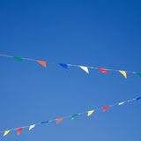 Bunting on blue sky Royalty Free Stock Images