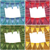 Bunting cards Stock Images