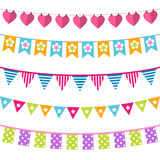 Bunting collection Stock Photos