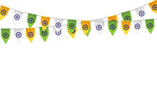 Bunting color of the flag India Stock Images