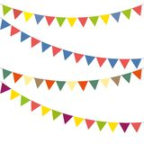 Bunting colorful set Stock Photos