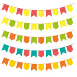 Bunting colorful set Stock Photography