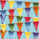 Bunting decoratie Stock Foto